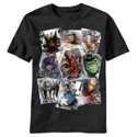Marvel Scatter Avengers T-Shirt Black Men's