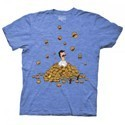 Bob's Burgers Bob in Pile of Burgers Men's Blue T-Shirt