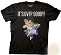 Dragonball Z It's Over 9000!!! Vegeta Black Men's T-Shirt