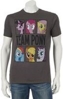 My Little Pony Team Pony Dark Gray Men's T-Shirt