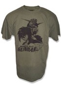 Gundam Wing Heero Yui T-Shirt Gray Men's