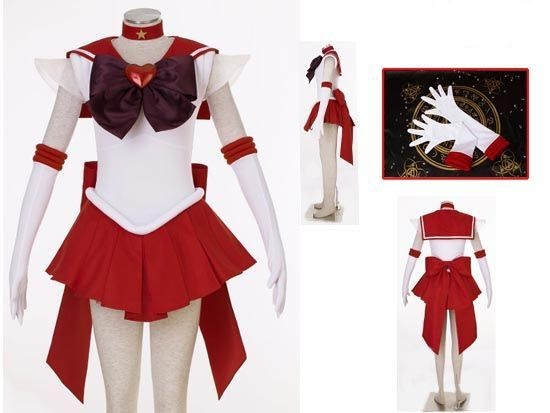 Sailor Moon Sailor Stars Sailor Mars Cosplay Costume