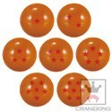 Dragonball Z 2.5'' Set of 7 Balls Bouncy Ball Cosplay Prop