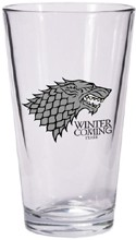 Game of Thrones Winter is Coming Stark Beer Glass