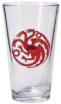 Game of Thrones Fire and Blood Targaryen Beer Glass