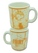 Fairy Tail Orange Natsu and Happy Coffee Mug Cup