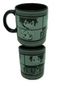 Fairy Tail Black Group Coffee Mug Cup