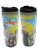 Hetalia Axis Powers World Map Blue and Yellow Coffee Mug Tumbler