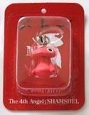 Neon Genesis Evangelion Chara Fastener Mascot 4th Angel Shamshel Opaque