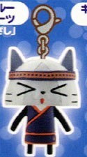 Monster Hunter White Cat Kitchen Outfit Chara Mascot Fastener