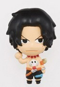 One Piece Ace w/o Hat Chara Mascot Fastener