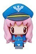 Macross Frontier Chara Mascot Fastener Charm Sheryl Blue Police Costume