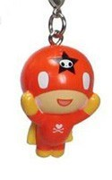 Tokidoki Frenzies Fastener Charm Red Guy w/ Cape