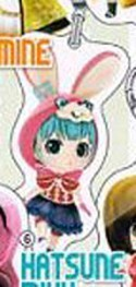 Vocaloid Miku Bunny Hood Secret Project Mirai Fastener Charm