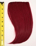 Long Bangs - Burgundy Red
