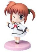 Magical Girl Lyrical Nanoha 3'' Figure Nanoha Uniform Wink