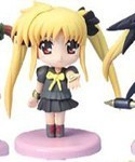 Magical Girl Lyrical Nanoha 3'' Figure Fate Uniform Palm Open