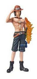 One Piece 4'' White Beard Pirates Ace w/ Fire Arm Chozoukei Dameshii Trading Figure