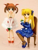 Magical Girl Lyrical Nanoha 1/8 Scale Fate and Nanoha Kotobukiya Figure Set