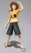 One Piece Film Z 3'' Luffy Chozokeii Damashii Trading Figure