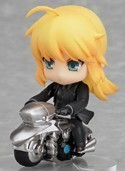 Fate Zero 3'' Saber w/ Motorcycle Trading Figure Type Moon Collection