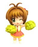 Card Captor Sakura 3'' Cheerleading Sakura Trading Figure