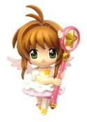 Card Captor Sakura 3'' White Dress Sakura Trading Figure