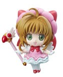 Card Captor Sakura Pink Dress Petit Chara Land Trading Figure