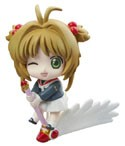 Card Captor Sakura School Uniform Winking Petit Chara Land Trading Figure