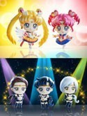 Sailor Moon Petit Chara Land Sailor Stars 5 Piece Figure Set