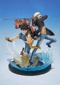 One Piece 6'' Luffy and Trafalgar Law Figuarts Zero 5th Anniversary Edition Figure