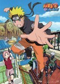 Naruto Shippuuden Naruto and Sakura Wall Scroll