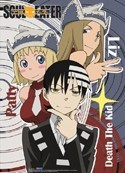 Soul Eater Death the Kid, Liz, Patty Wall Scroll