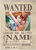 One Piece Nami Wanted Wall Scroll