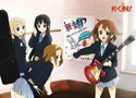 K-On w/ Instruments Wall Scoll
