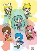 Vocaloid Chibi Group Wall Scroll