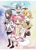 Puella Magi Madoka Magica Group Wall Scroll