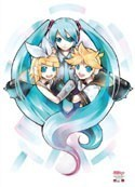 Vocaloid Miku, Rin and Len Wall Scroll