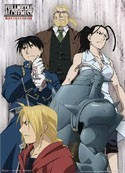 Fullmetal Alchemist Group Wall Scroll