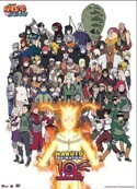 Naruto Shippuden 10th Anniversary Cast Wall Scroll