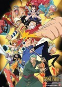 One Piece Group Wall Scroll