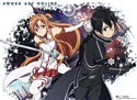 Sword Art Online Asuna and Kirito Wall Scroll Poster (U.S. Customers Only)