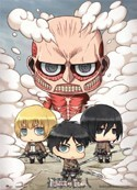 Attack on Titan Chibi Group Wall Scroll