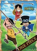 One Piece Childhood Luffy Ace and Sabo Wall Scroll Poster