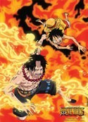 One Piece Ace and Luffy Fire Wall Scroll Poster