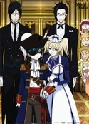 Black Butler Group Wall Scroll Poster