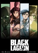 Black Lagoon Group Columns Wall Scroll Poster