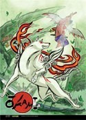 Okami Amaterasu Wall Scroll Poster