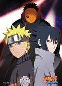 Naruto Shippuuden Naruto, Sasuke and Tobi Wall Scroll Poster