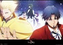 Fate Zero Gilgamesh and Kotomine Wall Scroll (U.S. Customers Only)